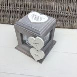 Shabby Chic PERSONALISED Rustic Wood In Memory Of DAD Photo Cube ANY NAMES - 253968203168
